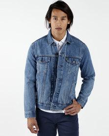 Levi's x Peanuts Trucker Jacket Blue