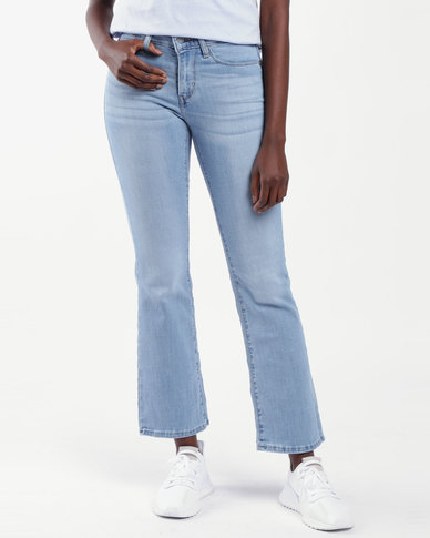 Curvy Bootcut Jeans Blue