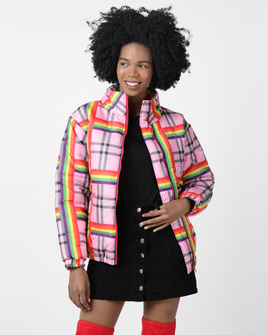 Daisy Street Rainbow Jacket Multi
