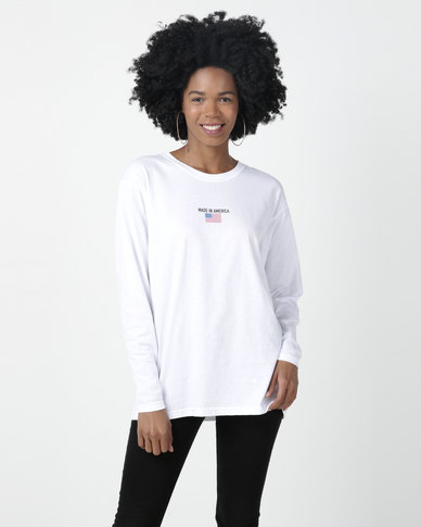 Daisy Street Pull Over Sweater White