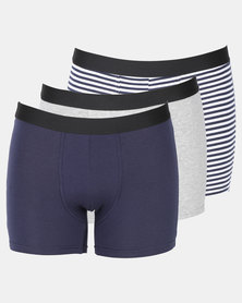 Utopia 3 Pack Stripe Mens Trunks Multi