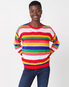 Utopia Brights Stripe Jumper Multi