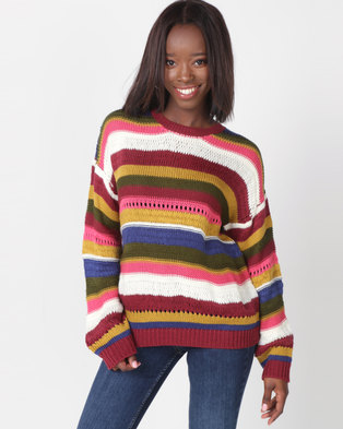 Utopia Veg Stripe Jumper Multi