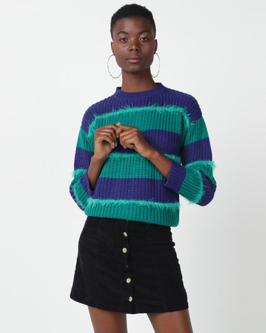 Utopia Striped Jumper Greens