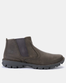 Caterpillar Casual leather Boots Olive/Grey