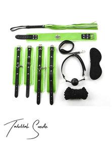 Talullah Suede Elektra BDSM Kit Full, Leather Green
