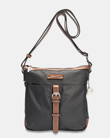 8010af79086 Picard Sonja Fabric Shoulder Bag Anthracite