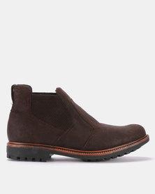 Bronx Men Sasso Boots Suede Oily Choc