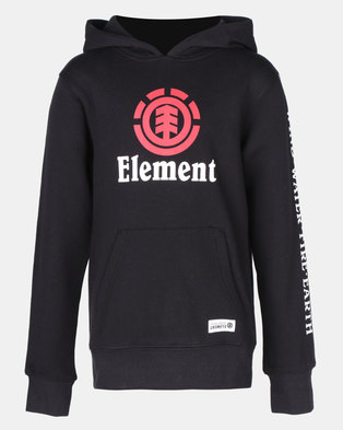 44376628b6a Element Flint Vertical Pop Top Hoodie Black