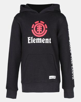 97859d37a74 Element Flint Vertical Pop Top Hoodie Black