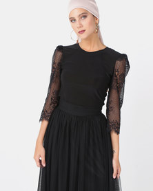 Mishah Lace Sleeve Bodysuit