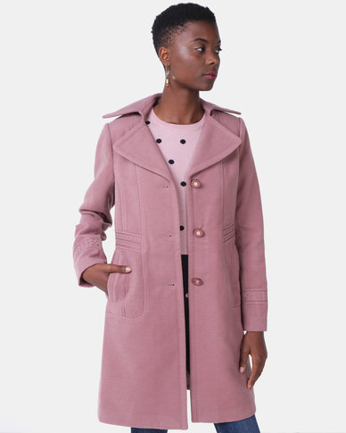 Queenspark Falling In Love Woven Coat Lavender