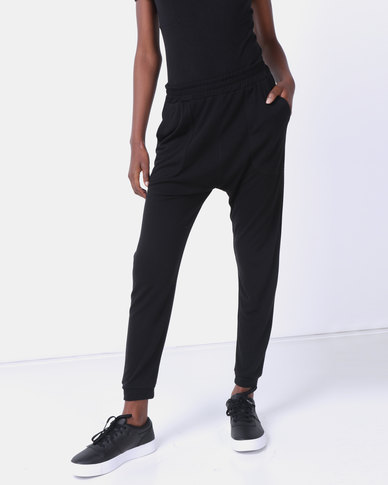 Queenspark Pocket Detail Knit Joggers Black