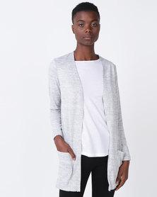 Queenspark Edge to Edge Pocket Detail Jacket Grey
