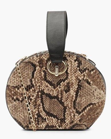 Boohoo Faux Snake Handle Grab Bag (PARALLEL IMPORT)