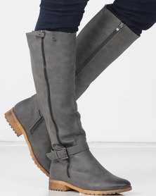 Miss Black ALANIS Long Boot Grey