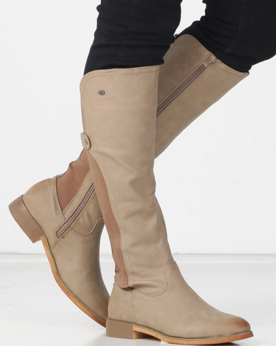 Miss Black RAINER (4) Long Boot Taupe