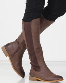 Miss Black ROUTE 66 Long Boot Chocolate