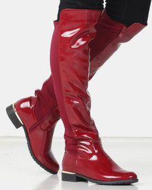 Miss Black EISLEY Boot Red