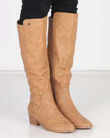 Miss Black GAEL Long Boot Nude