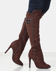 Miss Black AUDRA 2 Long  Boot Chocolate