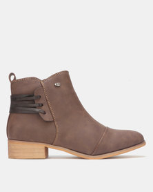 Miss Black CLOVIS Ankle Boot Chocolate