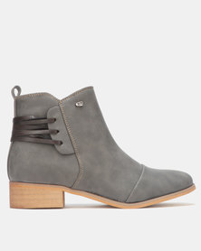 Miss Black CLOVIS Ankle Boot Grey