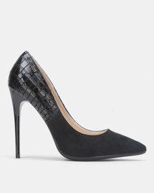 Miss Black IDA Court heel Black