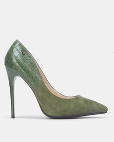 Miss Black IDA Court heel Olive