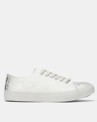 check out 14fd3 1b725 Miss Black ODETTE Sneaker Silver