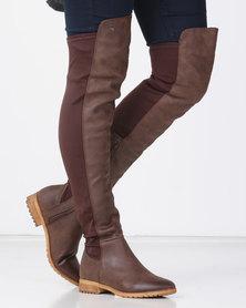 Miss Black KRABI OTK Boot Chocolate