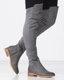 Miss Black KRABI OTK Boot Grey