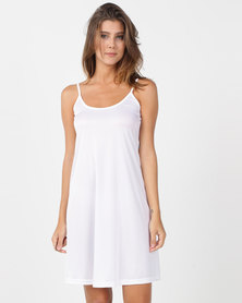 Nucleus Slip Dress White