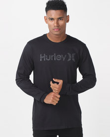 Hurley One & Only Push Thru Longsleeve T-shirt Black