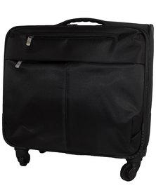 Fino Wheeled Nylon Laptop Pilot Case Black