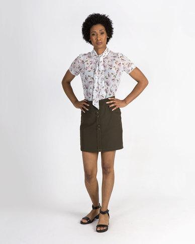 Mamoosh floral shirt White