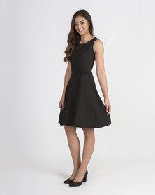 Mamoosh beaded A-line dress Black