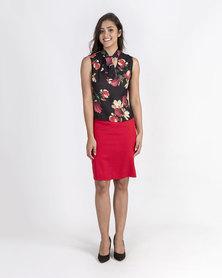 Mamoosh floral shirt Black