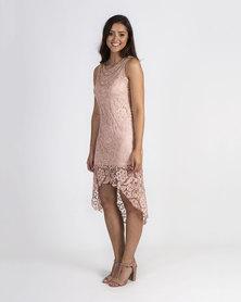 Mamoosh Lace necklace dress Pink