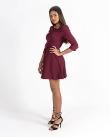 Mamoosh A-line dress Maroon
