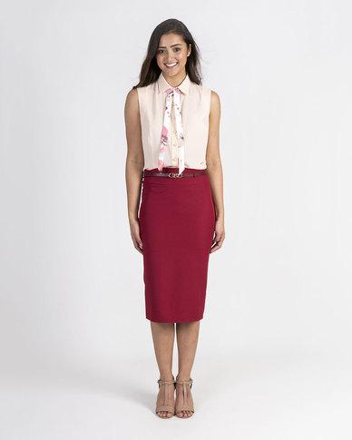 Mamoosh pencil skirt Maroon