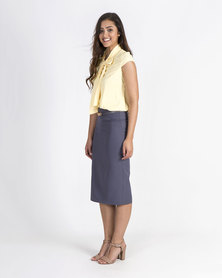 Mamoosh Pencil skirt Bluish grey