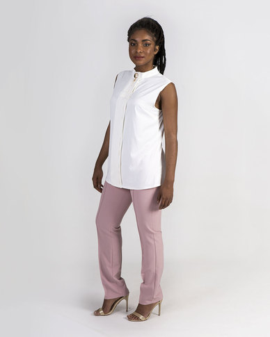 Mamoosh shirt with brooch White