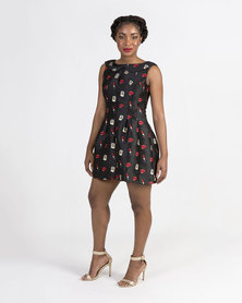 Mamoosh Lipstick pouf dress Black