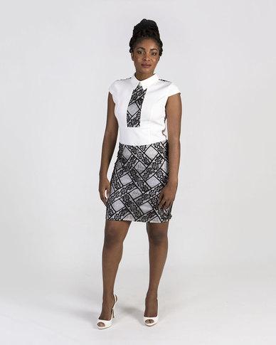 Mamoosh lace detail shirt Black and white