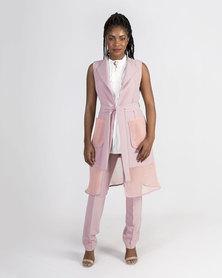Mamoosh sleeveless coat Dusty pink