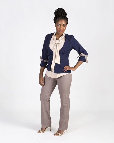 Mamoosh Jacket with arm tie Navy
