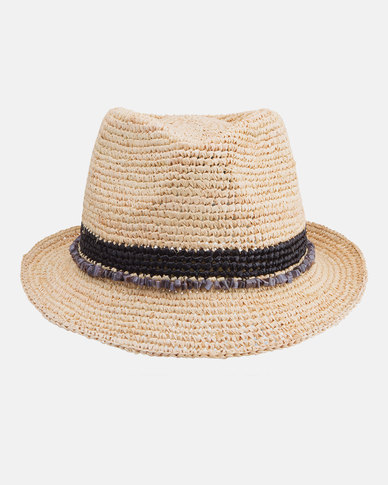 7c3e15f7f41 Emthunzini Roxy Raffia Sunhat with Black Beads 58cm