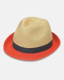 Emthunzini Stevie Ivory Black Orange Sunhat 58cm