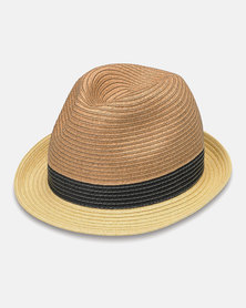 Emthunzini Stevie Natural Black Ivory Sunhat 58cm